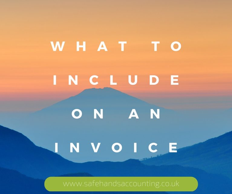 what to include on an invoicce safehands accounting