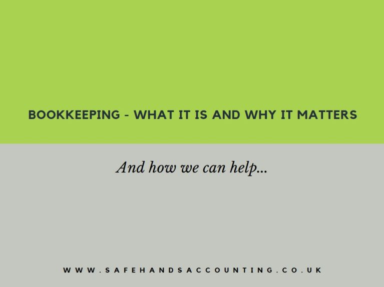 bookkeeping services in Cheltenham from Safehands